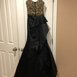 Couture Prom Dress—Sequence too and satin bottom